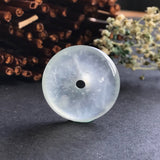 SOLD OUT: Glassy Muna Variety A-Grade Type A Natural Jadeite Jade Donut Pendant No.170115