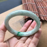 SOLD OUT: 54.1mm A-Grade Type A Jadeite Jade Modern Round Bangle No. 151069