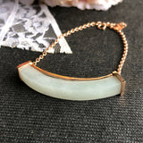 SOLD OUT: Customised A-Grade Type A Natural Light Green Jadeite Jade Bracelet Piece (Setting Top-Up) No.190065