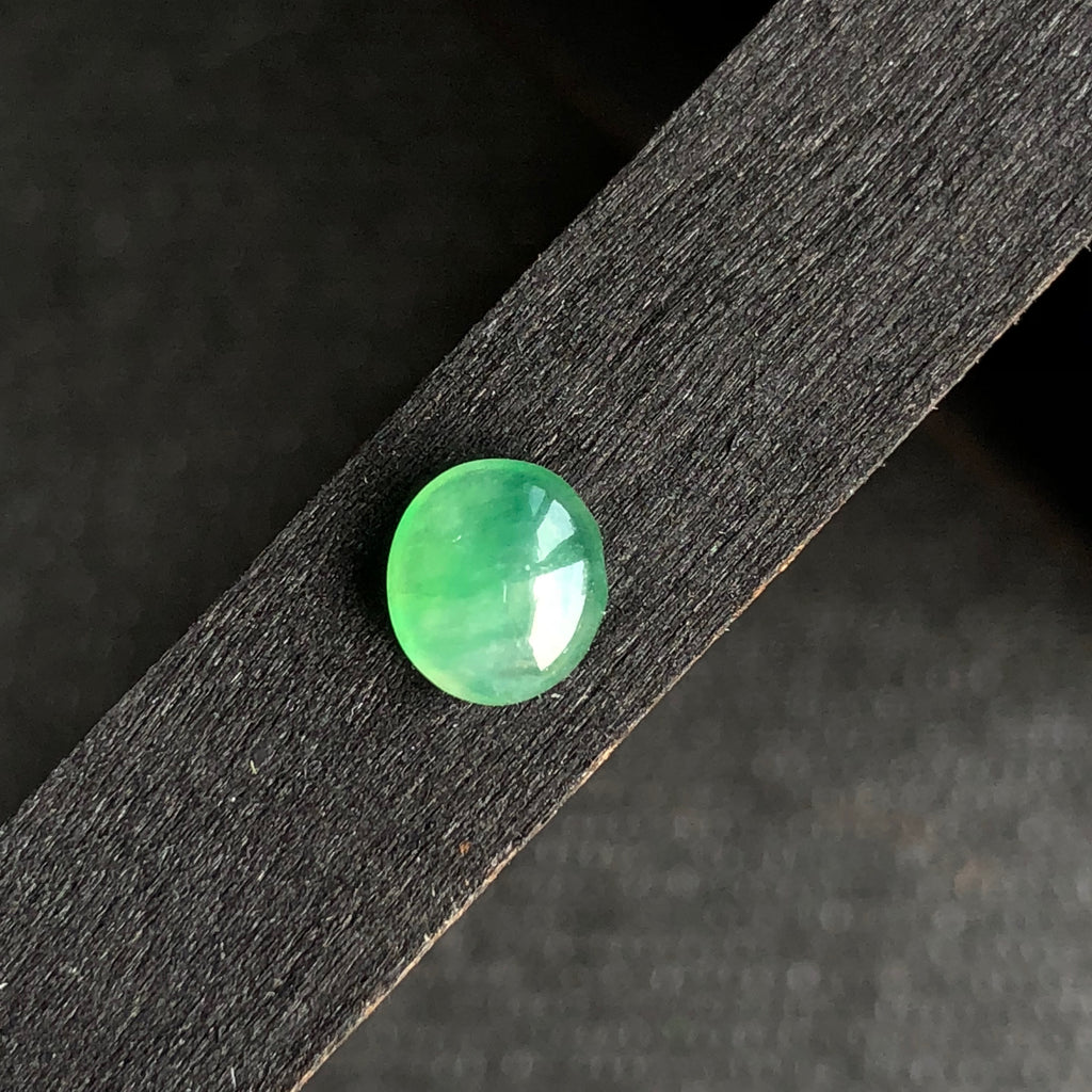 Icy A-Grade Type A Natural Green Jadeite Jade Cabochon Piece No.130022