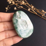 SOLD OUT: A-Grade Type A Jadeite Jade Enlightenment Pendant No.17017