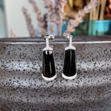 Icy A-Grade Type A Natural Omphacite Jadeite Stud Earring No.180108