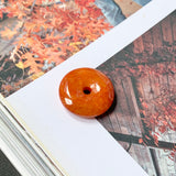 A-Grade Natural Red Jadeite Donut Pendant No.171476