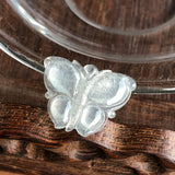 SOLD OUT: Icy A-Grade Type A Natural Jadeite Jade Butterfly Pendant No.170431