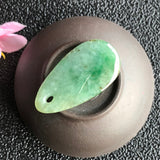 SOLD OUT: A-Grade Type A Natural Green Jadeite Jade Droplet Pendant No.170440
