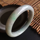 SOLD OUT: 53.7mm A-Grade Type A Jadeite Jade Modern Round Bangle No.151258