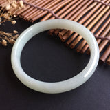 SOLD OUT: 50.9mm A-Grade Type A Jadeite Jade Thin Modern Round Bangle