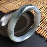 57mm A-Grade Type A Jadeite Jade Modern Round Bangle No.151002