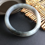 57mm Icy A-Grade Type A Jadeite Jade Modern Round Bangle No.151002