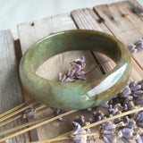 SOLD OUT: 51.4mm A-Grade Type A Jadeite Jade Modern Round Bangle No.151090