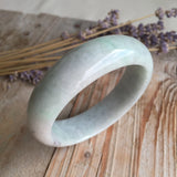 SOLD OUT: 51.6mm A-Grade Type A Jadeite Jade Modern Round Bangle No.151046
