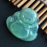 SOLD OUT: Highly Icy A-Grade Type A Jadeite Jade Green Buddha Pendant No.170044