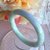 SOLD OUT: 56.2mm A-Grade Type A Jadeite Jade Pastel Shades Traditional Round Bangle No.151465