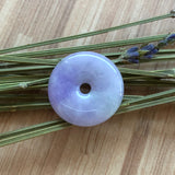 SOLD OUT: A-Grade Type A Natural Lavender Jadeite Jade Donut Pendant No.170447