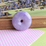 SOLD OUT: A-Grade Type A Natural Lavender Jadeite Jade Donut Pendant No.170448