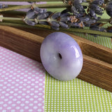 SOLD OUT: A-Grade Type A Natural Lavender Jadeite Jade Donut Pendant No.170449