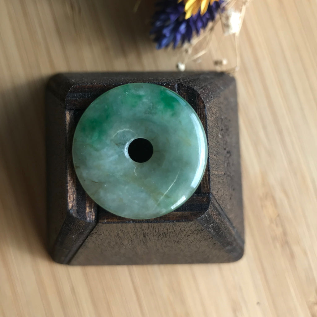 SOLD OUT: A-Grade Type A Natural Jadeite Jade Donut Pendant No.170375