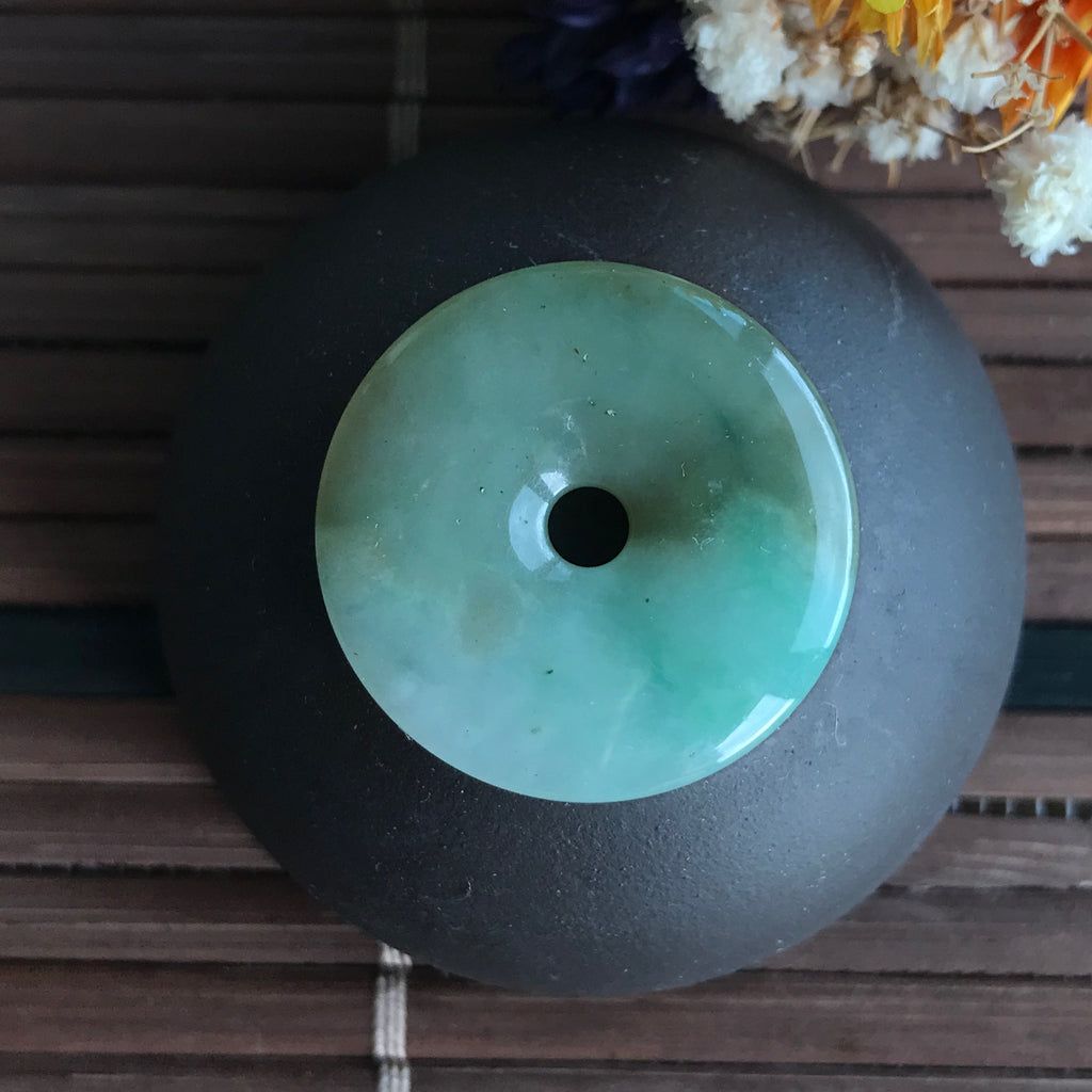 SOLD OUT: A-Grade Type A Natural Jadeite Jade Donut Pendant No.170376