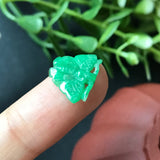 SOLD OUT: Green A-Grade Type A Natural Jadeite Jade Mini Butterfly Pendant No.170141