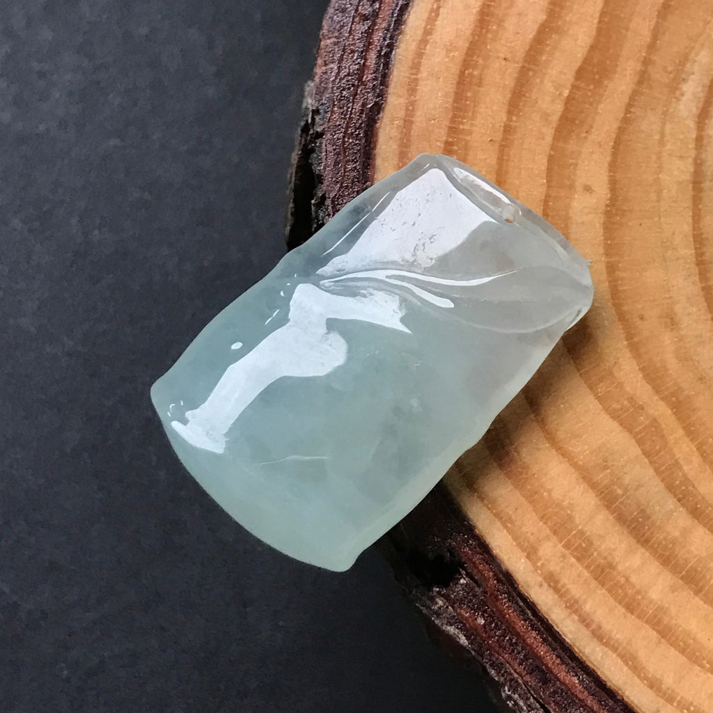 SOLD OUT: Icy A-Grade Type A Natural Jadeite Jade Bamboo Pendant No.170142