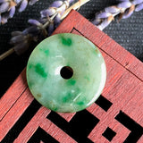 SOLD OUT: A-Grade Type A Natural Green Jadeite Jade Donut Pendant No.170446