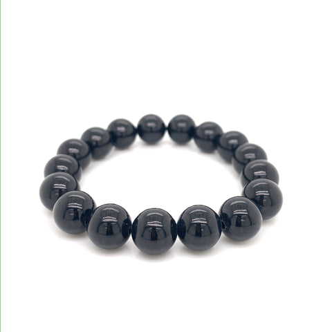 10mm A-Grade Natural Omphacite Jadeite Beaded Bracelet No.190260