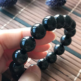 SOLD OUT: 12.2mm A-Grade Type A Natural Omphacite Jadeite Jade Beaded Bracelet No.190082