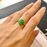SOLD OUT: A-Grade Natural Green Jadeite Donut Bespoke Ring No.161973