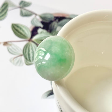 22.8ct A-Grade Natural Jadeite Cabochon No.130156