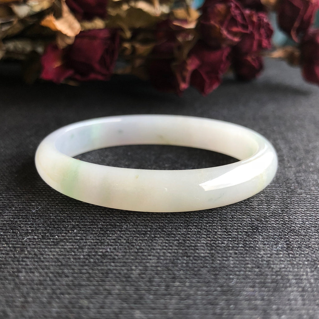 51mm A-Grade Type A Jadeite Jade Modern Oval Bangle No.151471
