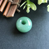 SOLD OUT: A-Grade Type A Natural Jadeite Jade Green Barrel Pendant No.170165