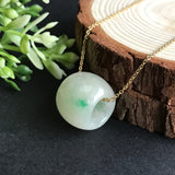 SOLD OUT: A-Grade Type A Natural Jadeite Jade Barrel Pendant No.170170