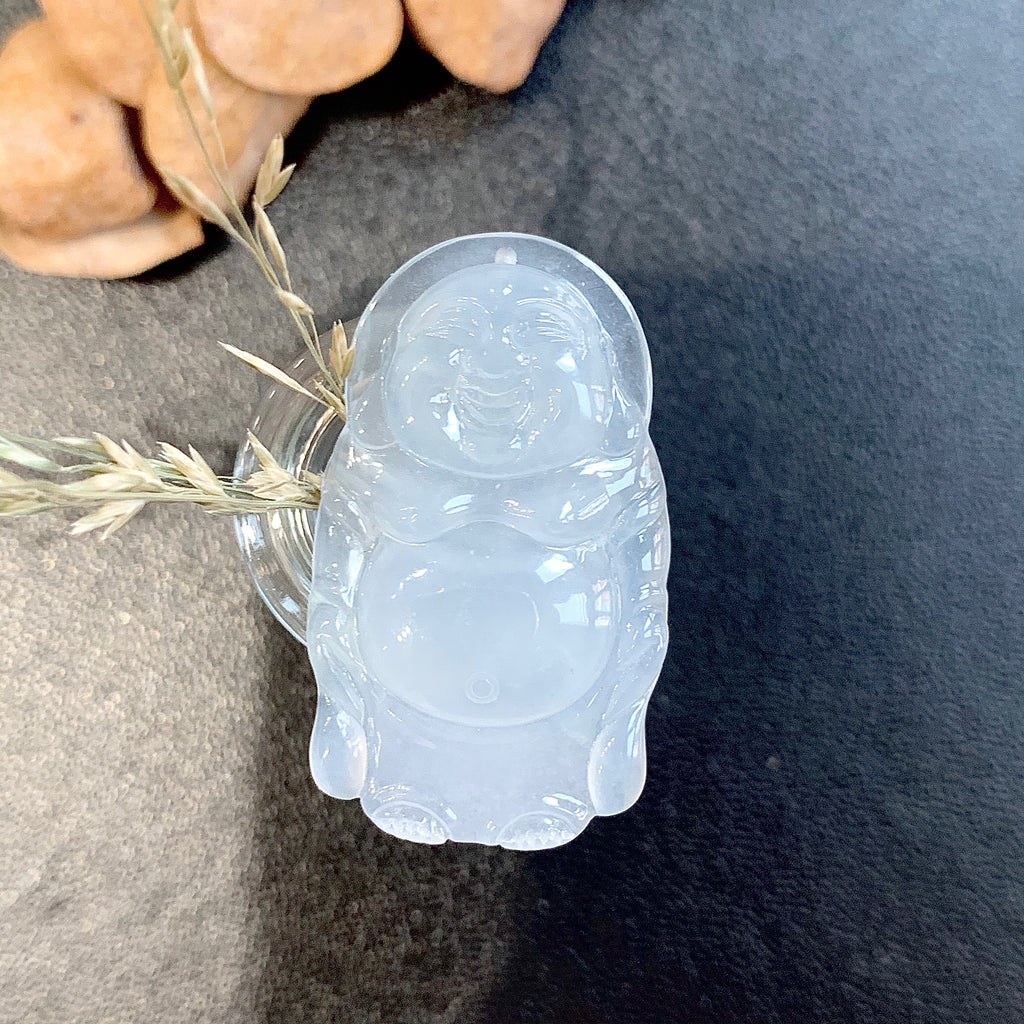 SOLD OUT: A-Grade Natural Jadeite Buddha Pendant No.220174