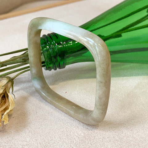 53.2mm A-Grade Jadeite Traditional Square Bangle No.151694