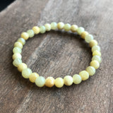 SOLD OUT: 5mm A-Grade Type A Natural Jadeite Jade Yellow Beaded Bracelet (32 pieces) No.190024