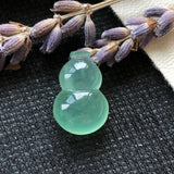Icy A-Grade Type A Natural Green Jadeite Jade Calabash Piece No.170465