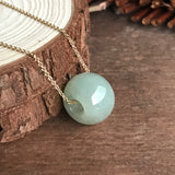 SOLD OUT: A-Grade Type A Natural Jadeite Jade Barrel Pendant No.170175