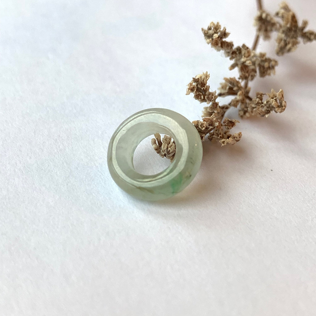 Icy A-Grade Natural Jade Ring Pendant No.170649