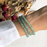SOLD OUT: A-Grade Type A Natural Green Jadeite Jade Beaded Bracelet/ Necklace No.190096