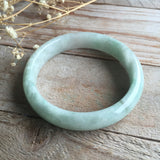 SOLD OUT: 54.2mm A-Grade Type A Jadeite Jade Modern Round Bangle No.151066