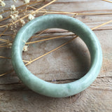 53.6mm A-Grade Type A Jadeite Jade Modern Round Bangle No.151059