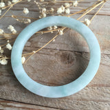56mm A-Grade Type A Jadeite Jade Modern Round Bangle No.151110