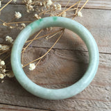 SOLD OUT: 53.4mm A-Grade Type A Jadeite Jade Modern Round Bangle No.151070