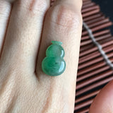 Icy A-Grade Type A Natural Green Jadeite Jade Calabash Piece No.170186