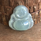 SOLD OUT: Icy A-Grade Type A Natural Jadeite Jade Buddha Pendant No.170189
