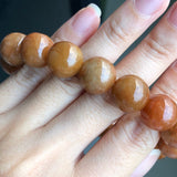 14mm A-Grade Type A Natural Jadeite Jade Beaded Bracelet No.190100