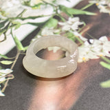 16.8mm A-Grade Natural Jadeite Saddle Top Ring Band No.161975