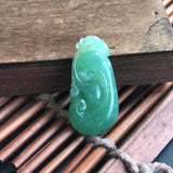SOLD OUT: Imperial Green A-Grade Type A Natural Jadeite Jade Ruyi Pendant No.170194