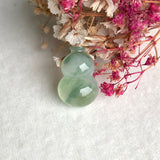 Icy A-Grade Type A Natural Jadeite Jade Calabash Piece No.170488