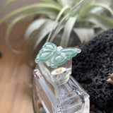 SOLD OUT: Icy A-Grade Natural Bluish Green Jadeite Brooch Pendant Piece No.170687